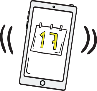 Illustration of mobile phone